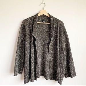Eileen Fisher Organic Cotton Linen Cardigan XL